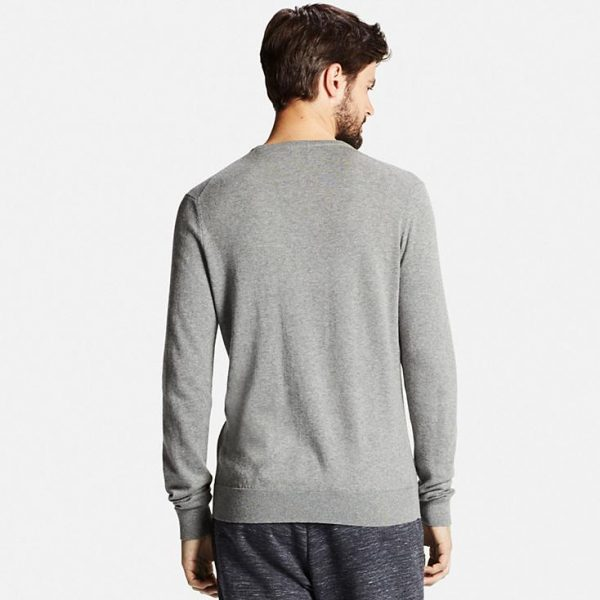 MEN COTTON CASHMERE CREWNECK SWEATER 4